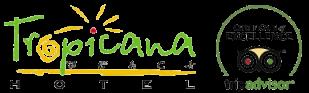 Tropicana Beach Hotel. Gumbet, Bodrum, Turkey Logo